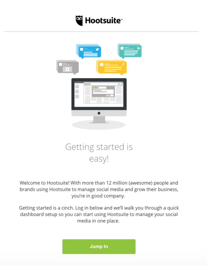 email automation example for an onboarding email